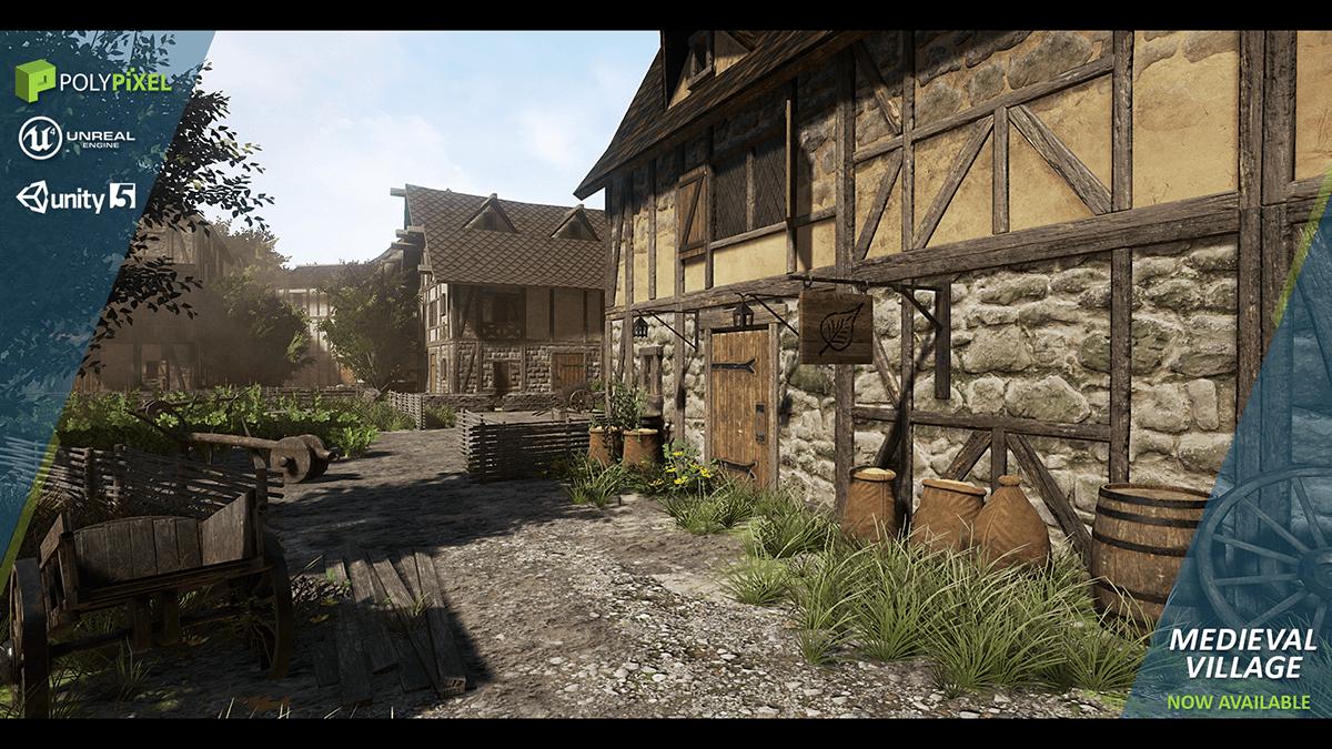 3D Pack Medieval Village – 9