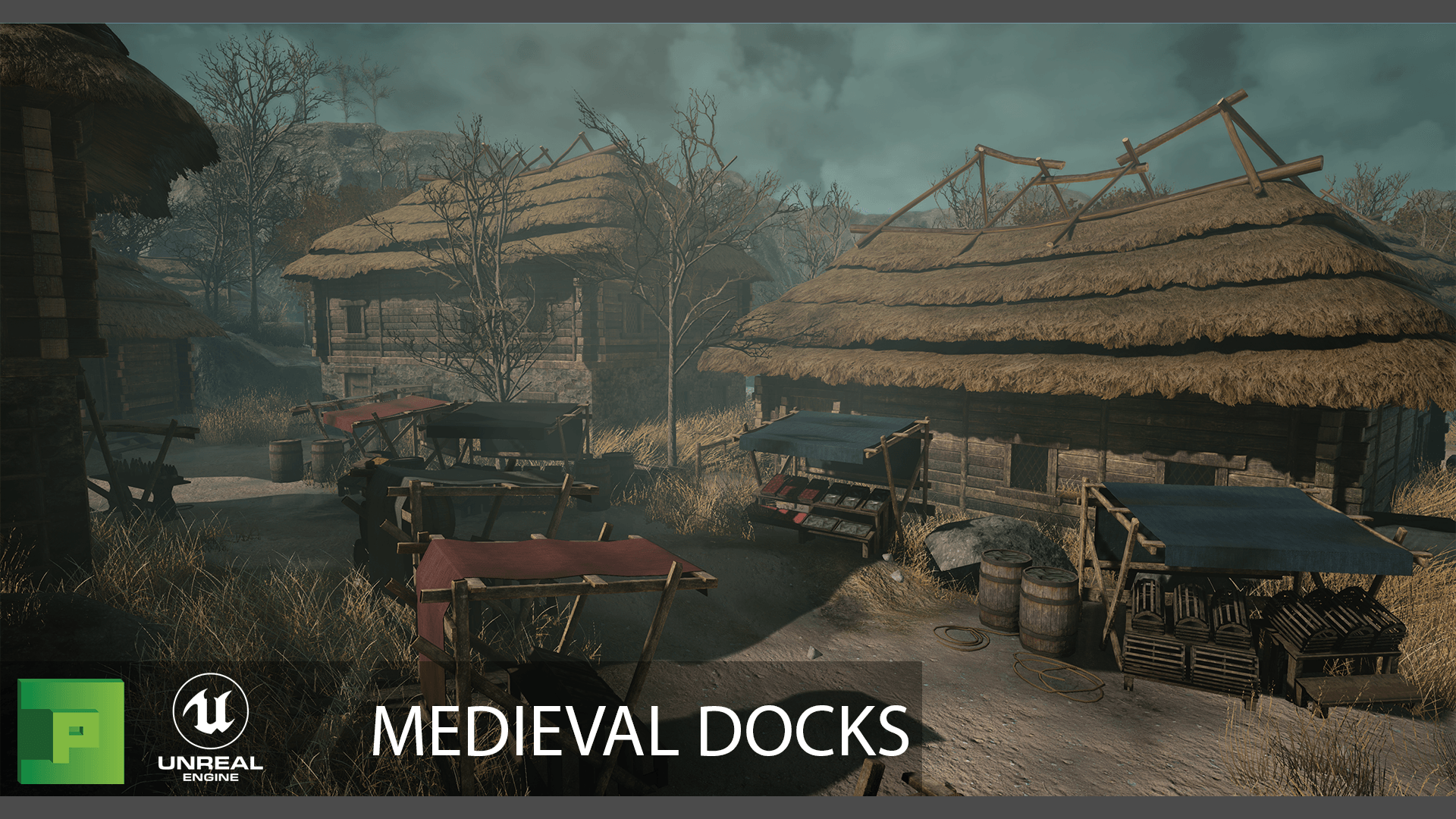 Medieval Docks Environment 3d Models Polypixel