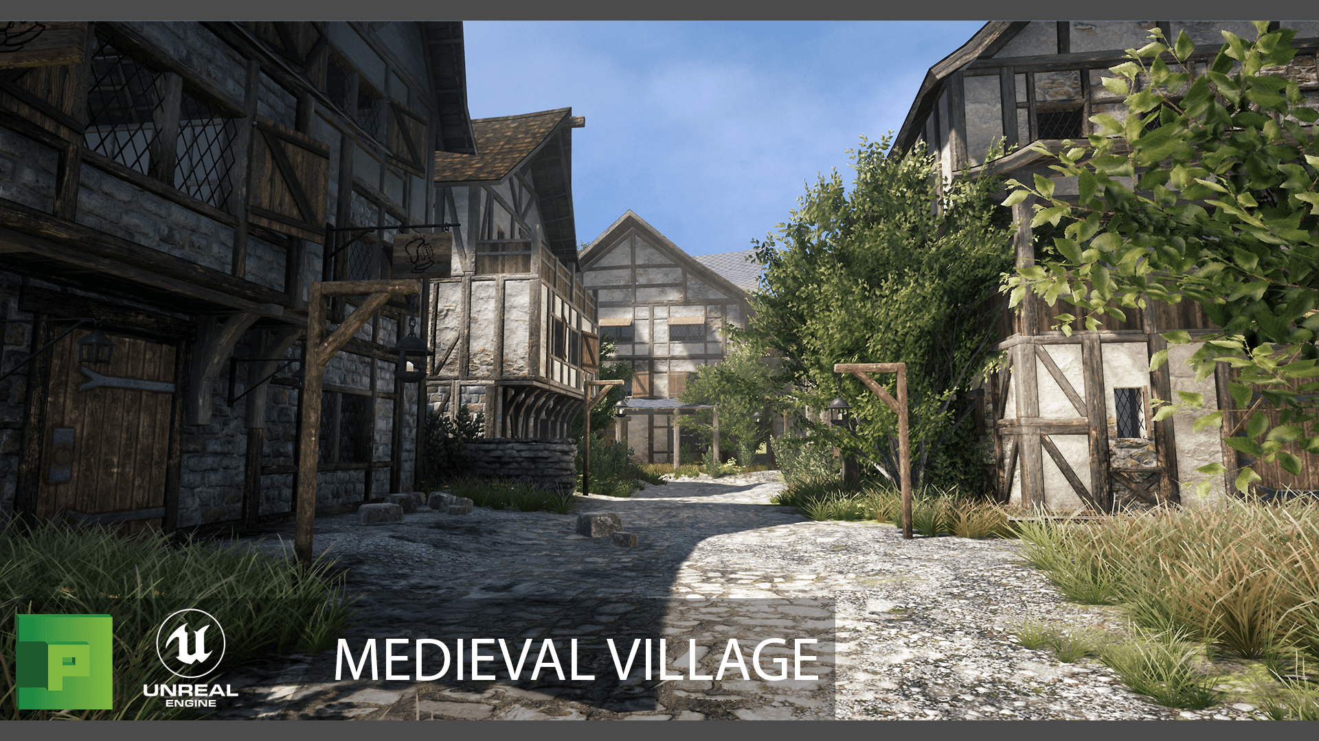 Medieval Village Environment 3d Models Polypixel